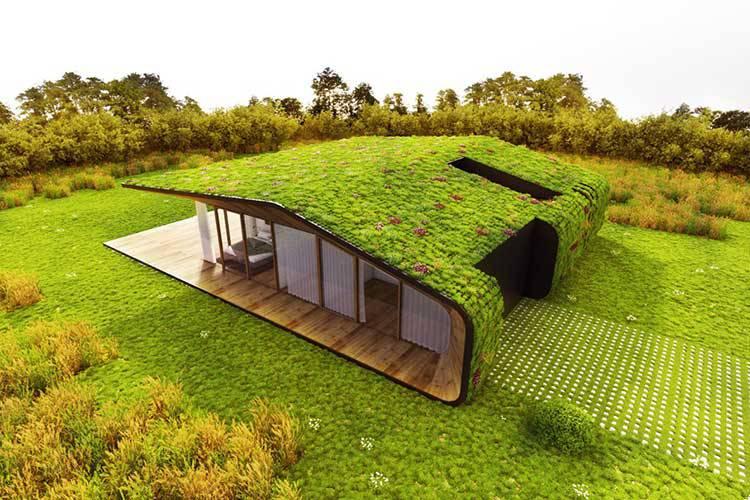 Telhado verde bioclimatismo for Construccion de casas bioclimaticas