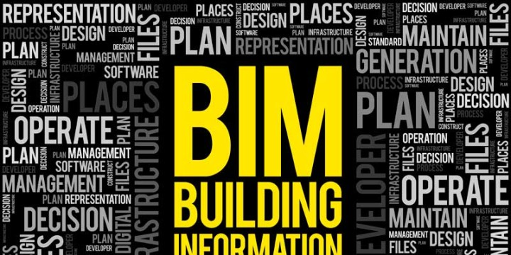 BIM - Building Information Modeling nuvem da palavra, conceito de negócio.