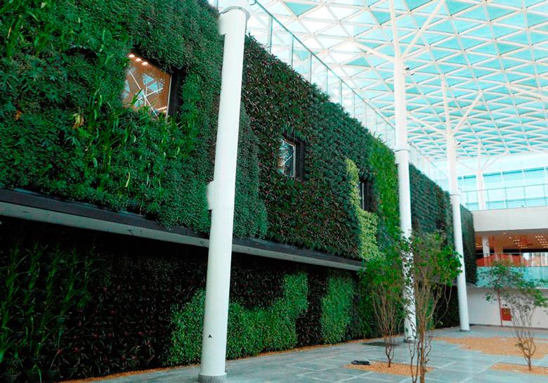 Foto da Parede verde da Petrobrás, da Sky Gardem Evenc.